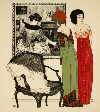 Иллюстрация из Les Robes de Paul Poiret, 1908 год